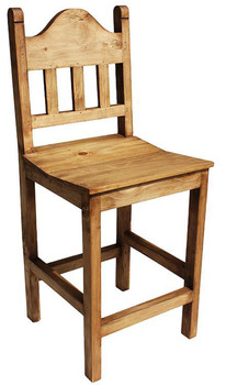 """Rustic Star 24"""" Barstool With No Star"""
