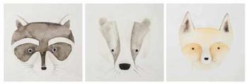 3 Pc Wild Animals Wall Art