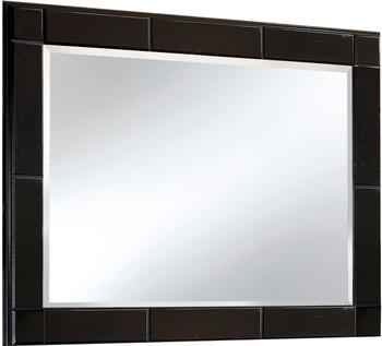 "DOMINIC Black 63"" Wide Dresser & Mirror"