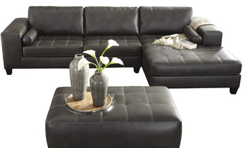 Miliano Charcoal Sectional With Sleeper