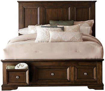 Benny Espresso Storage Platform Bedroom Set