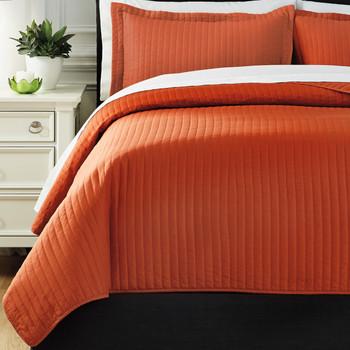 Raleda Orange Coverlet Set