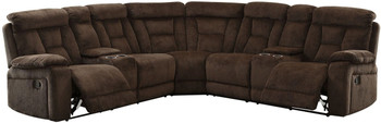 Lancaster Brown Reclining Sectional