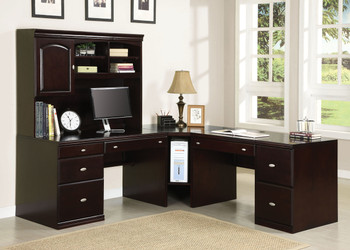 BARUCH 84'' Wide L-Shaped Desk with Hutch