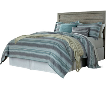 Kuebec Gray Headboard Bedroom Set