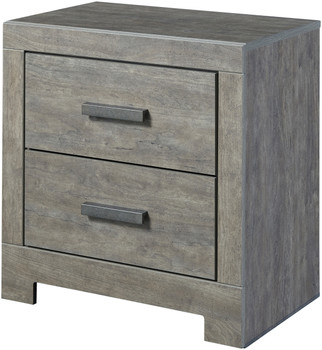 Kuebec Gray Night Stand with USB Port