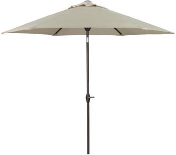 Dan Beige Outdoor Med Umbrella with Base