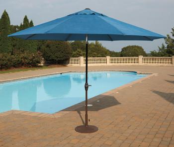 Dan Blue Outdoor Med Umbrella with Base