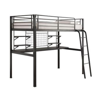 Alain Metal Twin Loft Bed