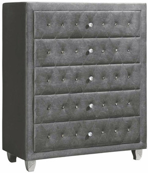 QUINTON Silver 5 Drawer Chest