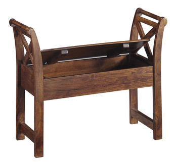 Arandel Warm Brown Accent Bench