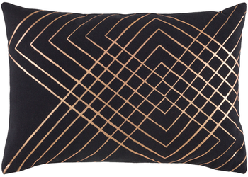 "Adwoa Black 19"" x 13"" Kidney Pillow"