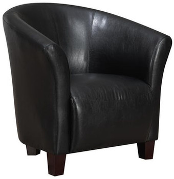 Anda Black Accent Chair