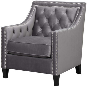 Dahlia Gunmetal Accent Chair