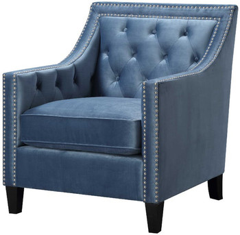 Dahlia Blue Accent Chair