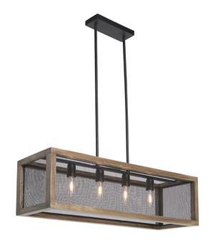 Brevyn Natural Wood Metal Pendant Light