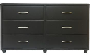 Eclipse Leather Dresser & Mirror