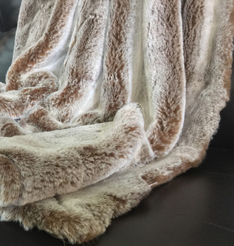"GAREN Light Brown Shaggy 50"" X 60"" Throw"