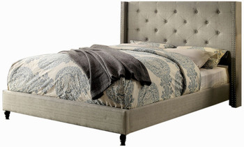 Adelphie Warm Gray Bed