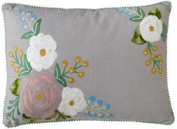 "Suzanne Embroidered 20"" x 14"" Pillow"