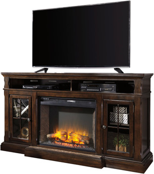 """Oxford 72"""" Wide TV Stand with Fireplace"""