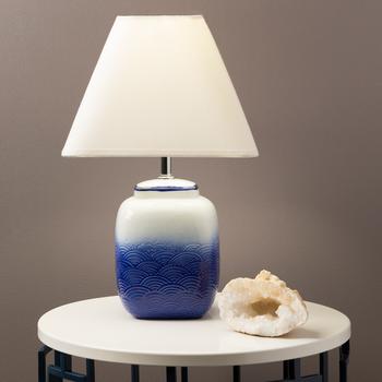 Leia Blue/White Table Lamp
