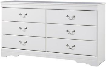 Paris White Dresser & Mirror