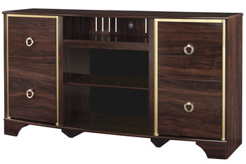 Monique Brown 3-PC Wall Unit