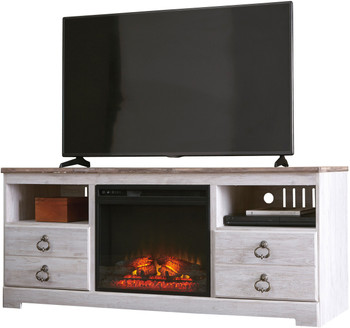 "CRESTHILL 63"" Wide TV Stand with Fireplace"