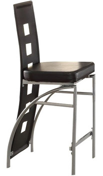 Rochelle Black Counter Chair