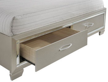 Ronnie Storage Lighted Bed