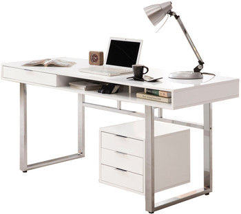 KAIYA 65'' Wide White Desk