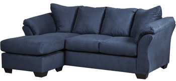 """EDELINE Royal Blue 89"""" Wide Sofa Chaise"""