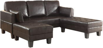 Manzu Brown Sofa Bed & Ottomans
