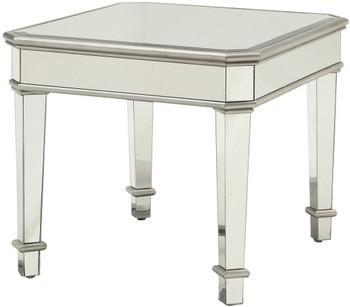 Allura Mirrored End Table