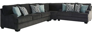 """GEOVANA Gray 141"""" Wide Sectional"""