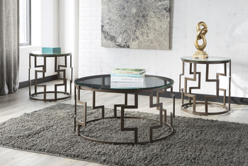 Addi Dark Bronze 3-PC End Tables
