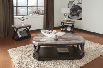 Jane Faux Marble 3 Piece Tables