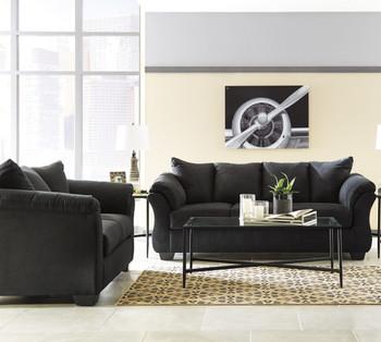 EDELINE Black Sofa & Loveseat