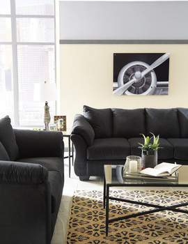 Edeline Black Sofa & Loveseat