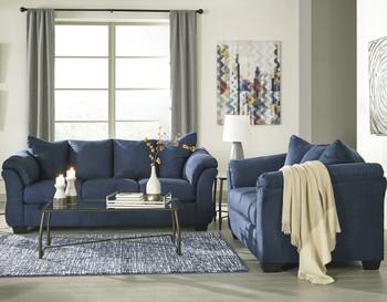EDELINE Royal Blue Sofa & Loveseat