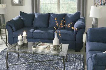 Edeline Royal Blue Sofa & Loveseat