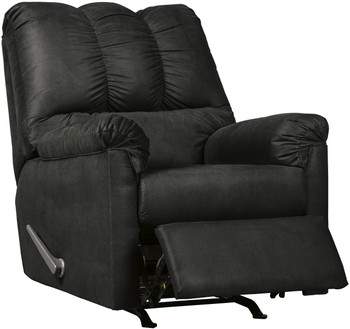 Edeline Black Plush Rocker Recliner