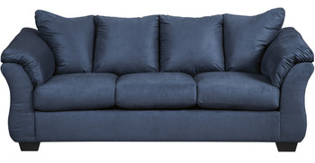 Edeline Royal Blue Full Sofa Sleeper with Mattress