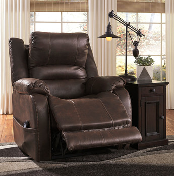 Terza Brown Recliner with Head & Lumbar control
