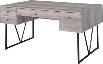 "ALFORD Gray 63"" Wide Computer Desk"