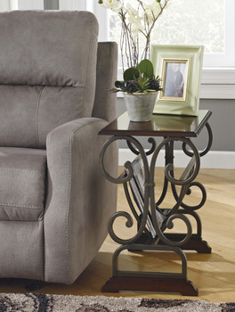 Alberta Metal Chairside Table