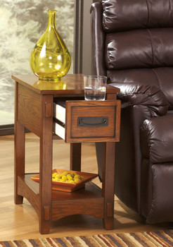 Alicea Brown Chairside Table