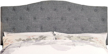Midor Gray Fabric Headboard