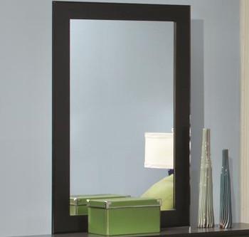 """LEONE Black 48"""" Wide Dresser & Mirror"""